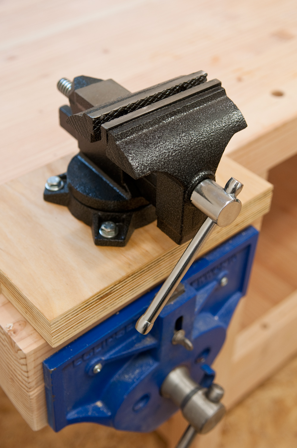 How To Install A Pedestal Sink Orc Week 3 Our Home: How To Install And Mount A Vise Without Drilling Holes In