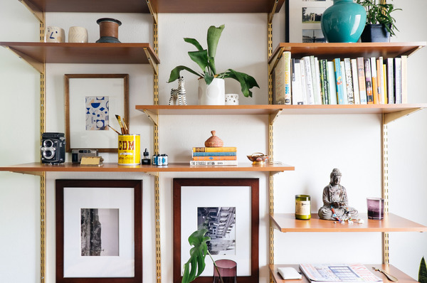 Weekend Project: Make a DIY Mid-Century Inspired Desk and Wall Unit