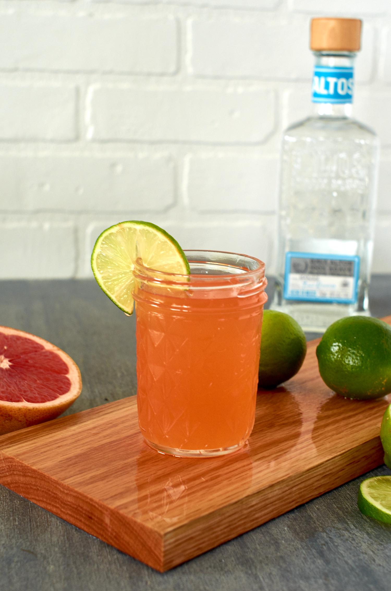 Grapefruit and campari tequila cocktail
