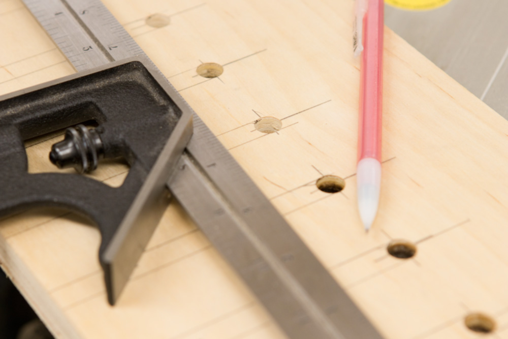 drilling the holes for the clamp rack