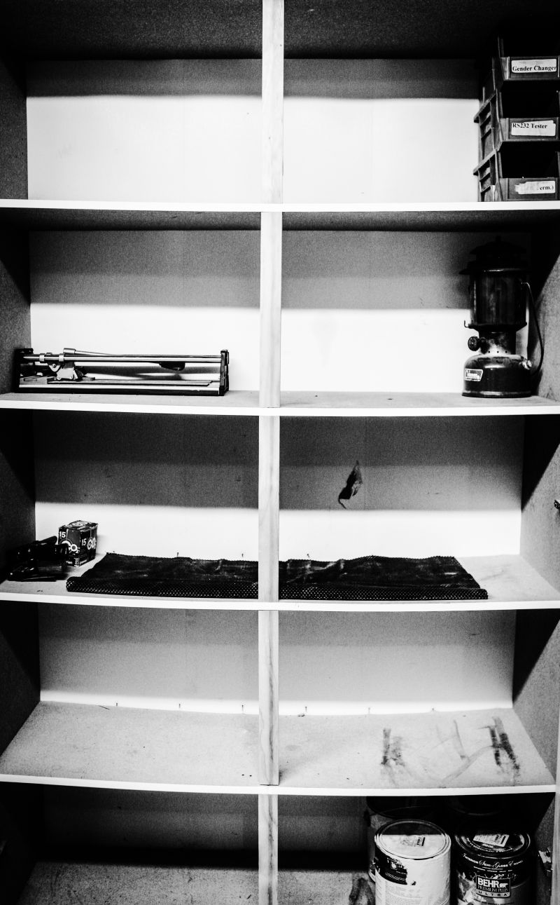 Empty shelf bworiginal