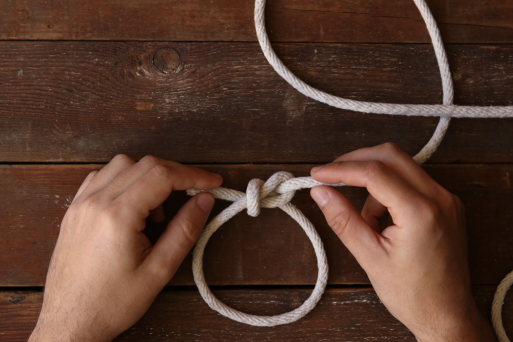 How to knit bowline knots: instructions 66
