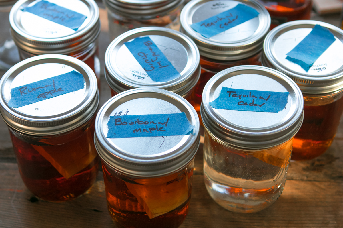 Diy Gift Idea Make Your Own Wood Infused Booze Man Made Diy