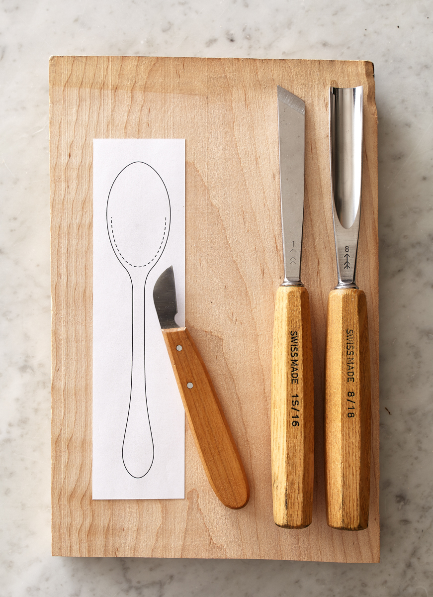 How to carve a simple wooden spoon from any hardwood