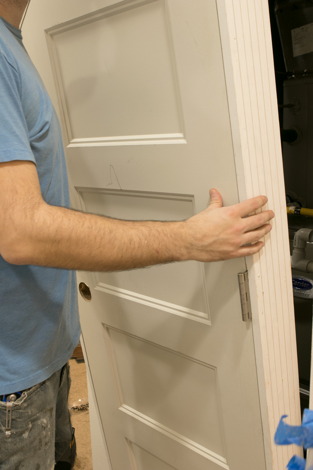 My total diy laundry room makeover man made diy crafts for men - Hollow core interior doors lowes ...