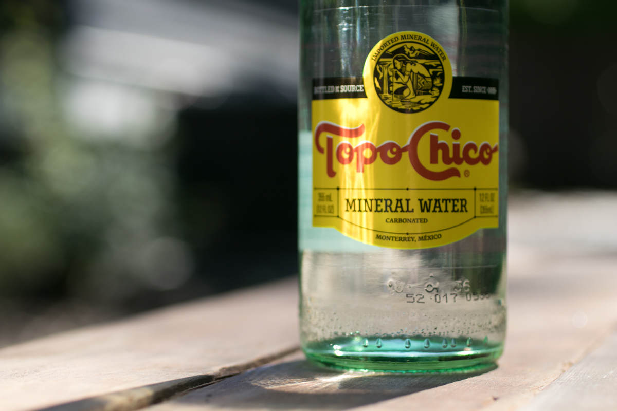 Top Chico bottle in the sun