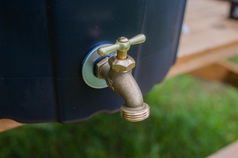 close up of installed spigot