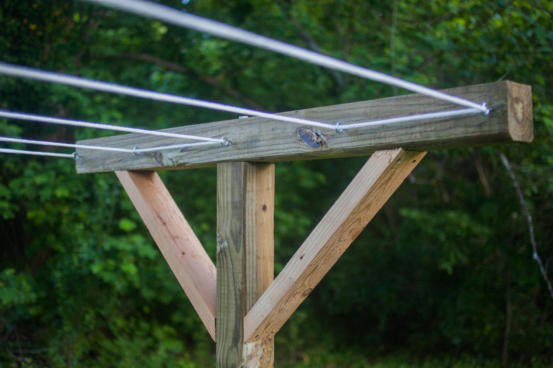 DIY clothesline