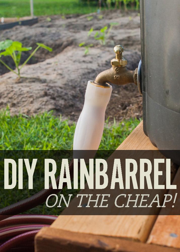 DIY rain barrel cover image