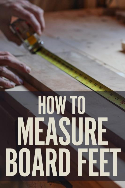 How Do I Calculate Board Feet