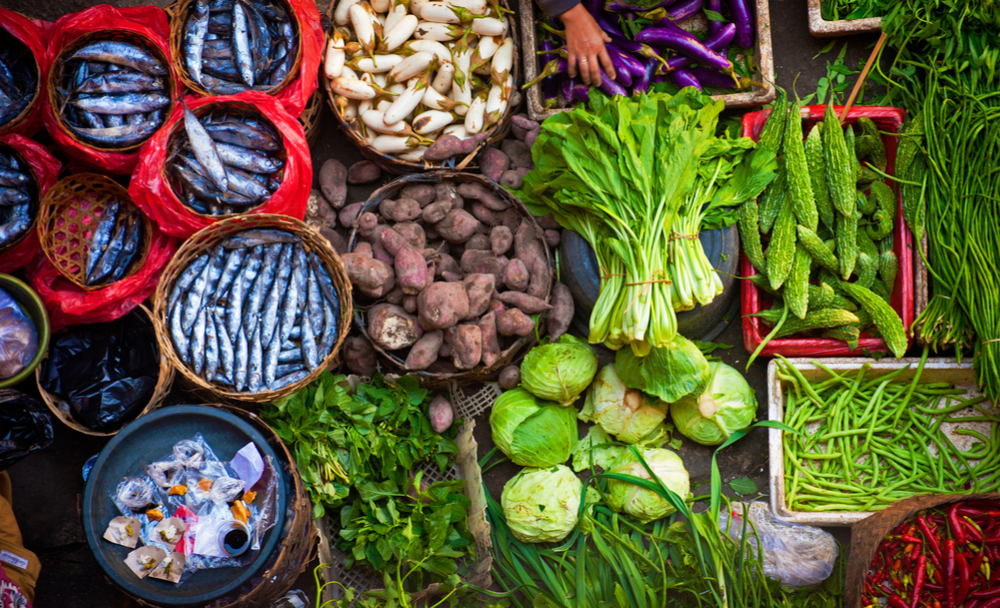 asian market vegetables