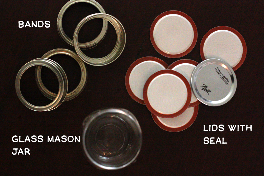 Bands, lids, and mason jars
