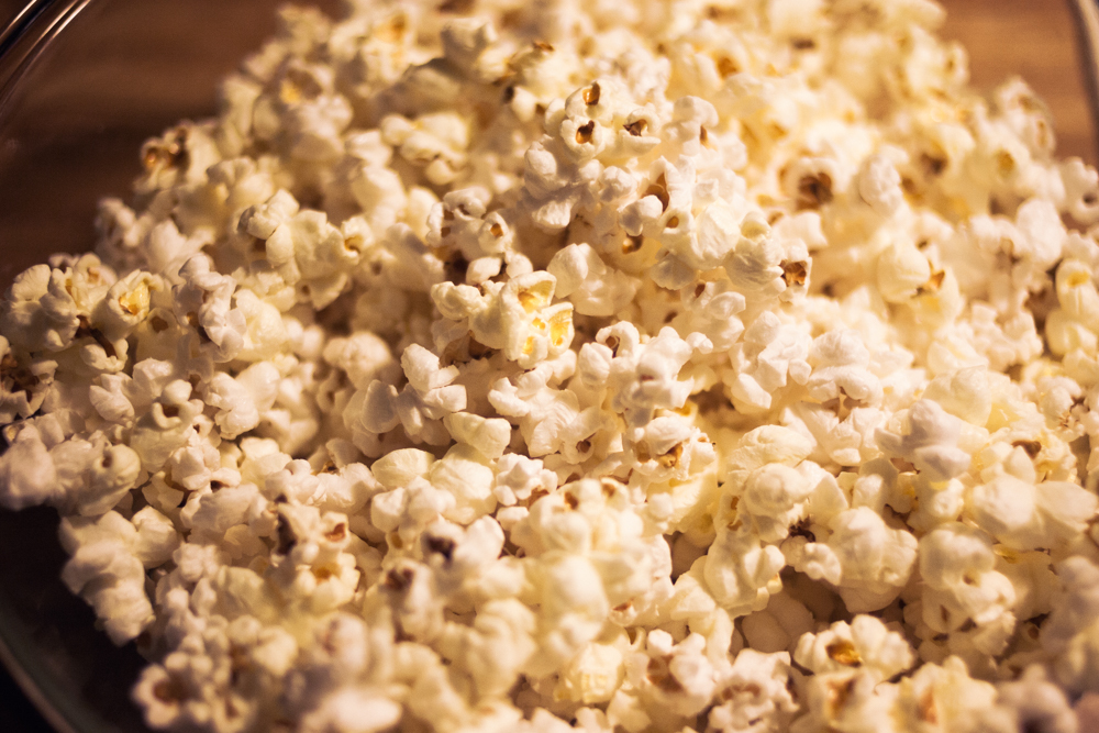 perfect stovetop popcorn - done