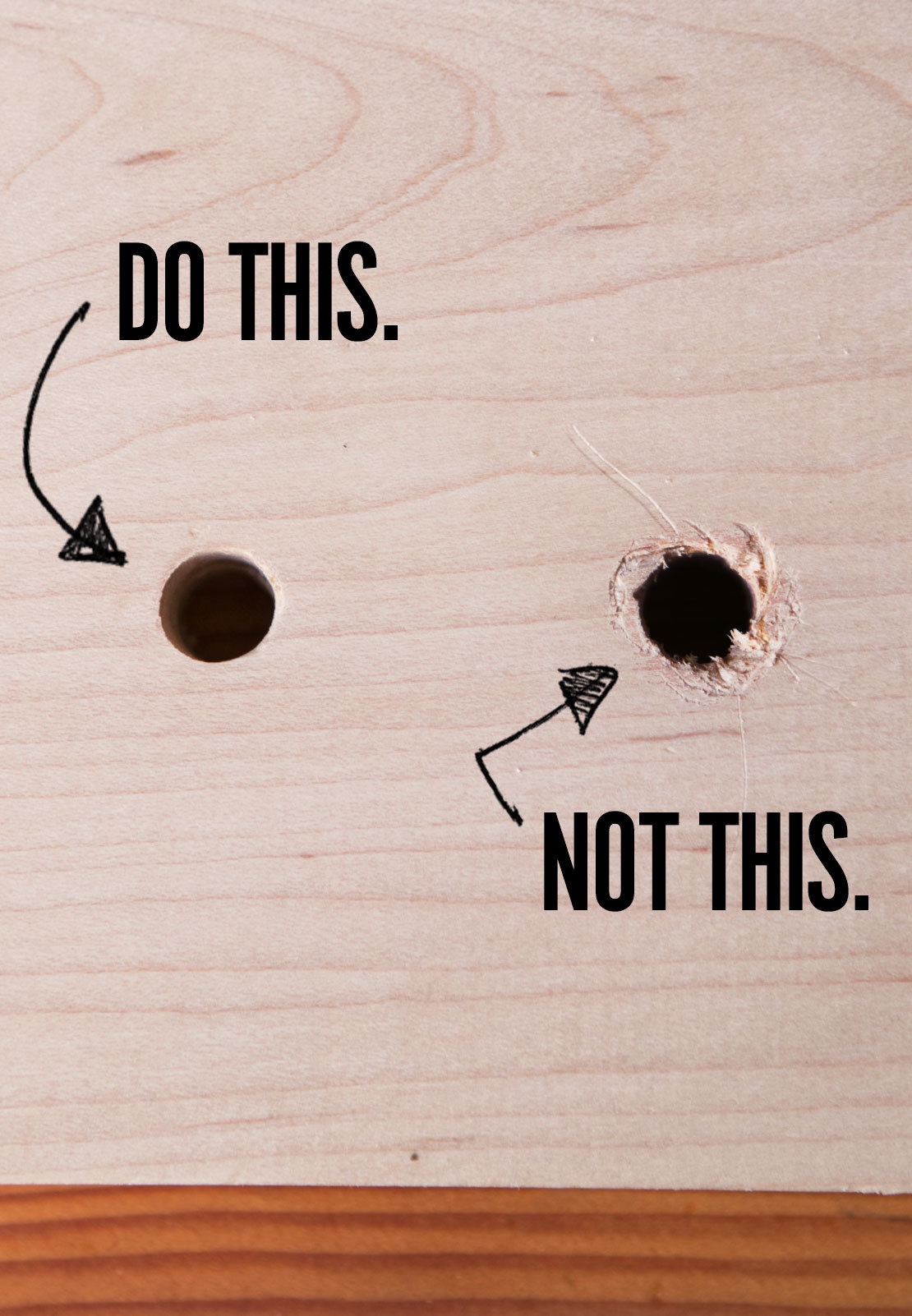 how to enlarge a hole