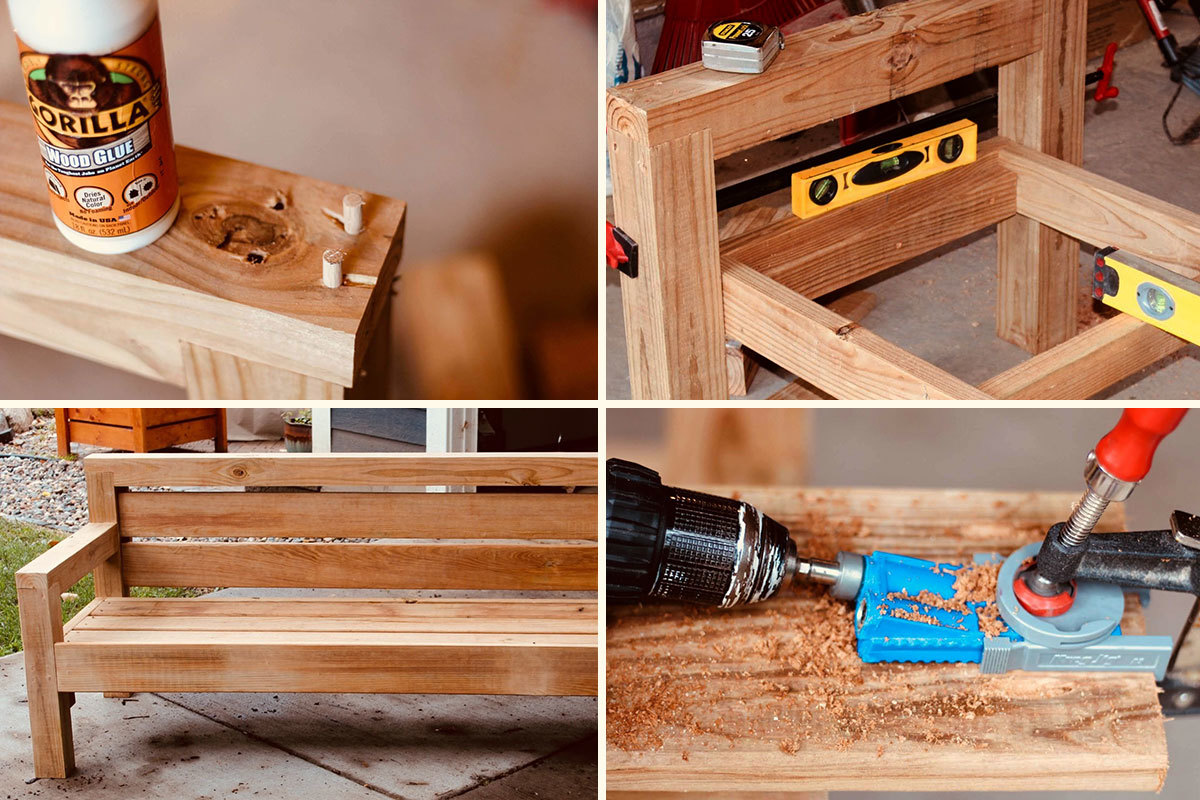 Image of: How To Build An Outdoor Sofa Man Made Diy Crafts For Men