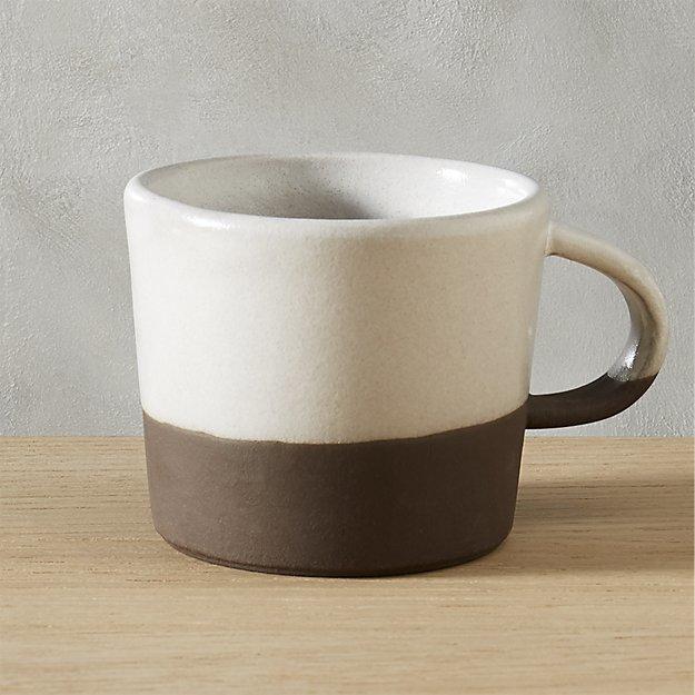 brown and white clean minimalist coffee mug