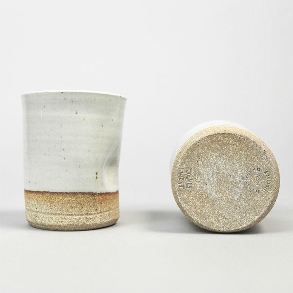 stoneware thumb cup coffee mug