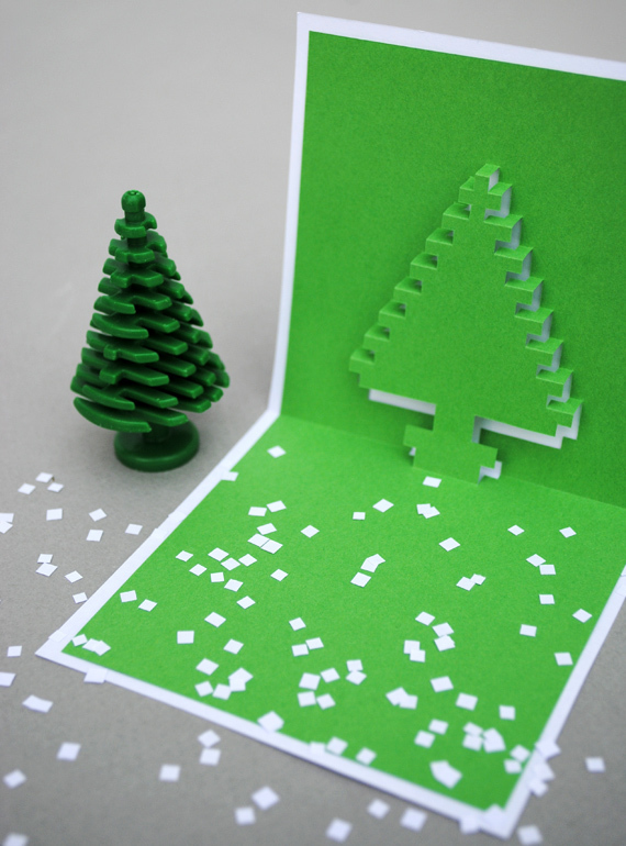 Christmas Pop Up Cards.How To Make 3d Pixel Pop Up Christmas Cards Man Made Diy