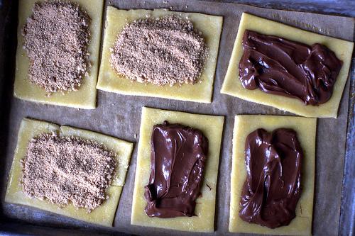 brown sugar and nutella fillings