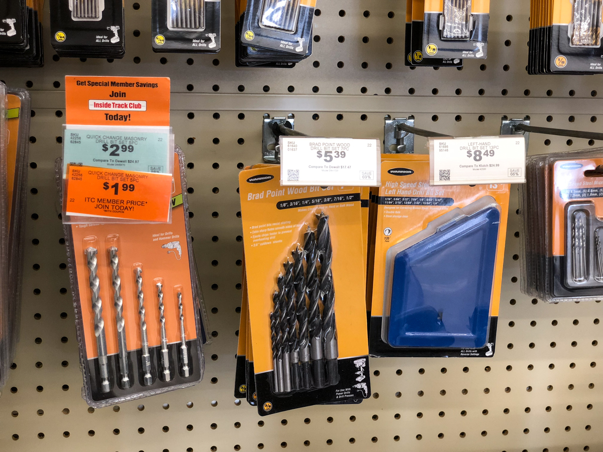 drill bit sets at Harbor Freight