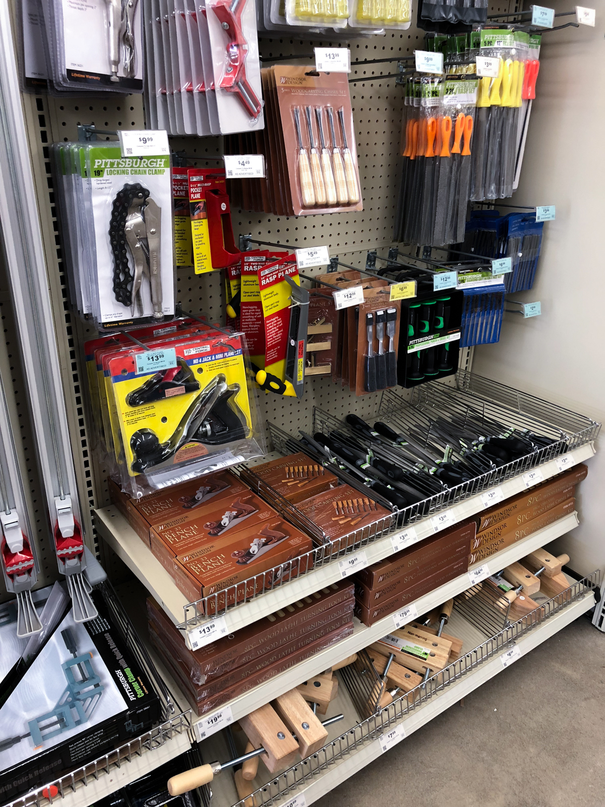 various woodworking tools
