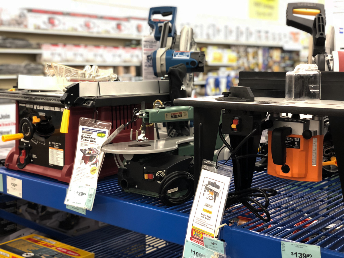bench top tools at Harbor Freight
