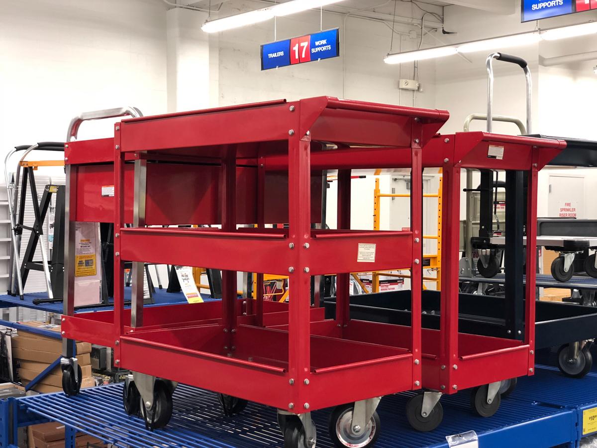 tool carts at Harbor Freight