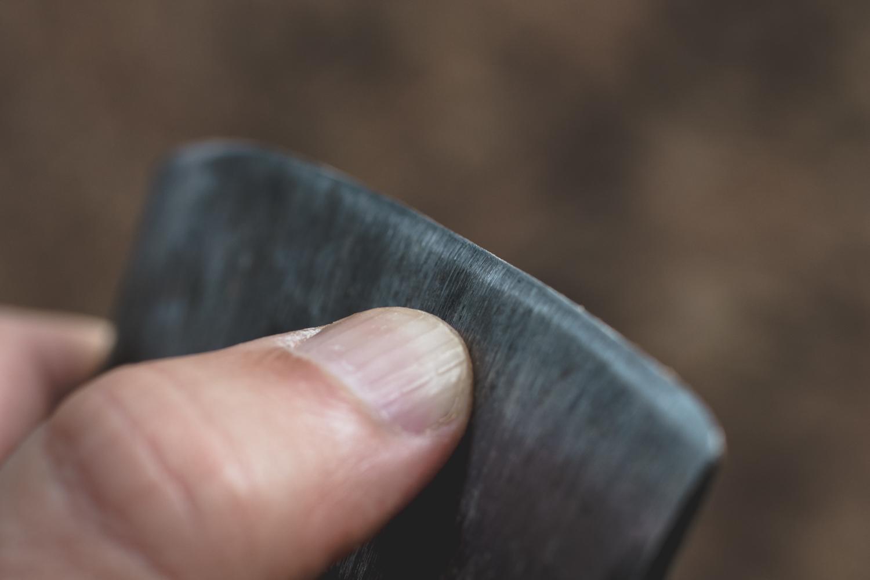 how to sharpen an axe - fresh edge