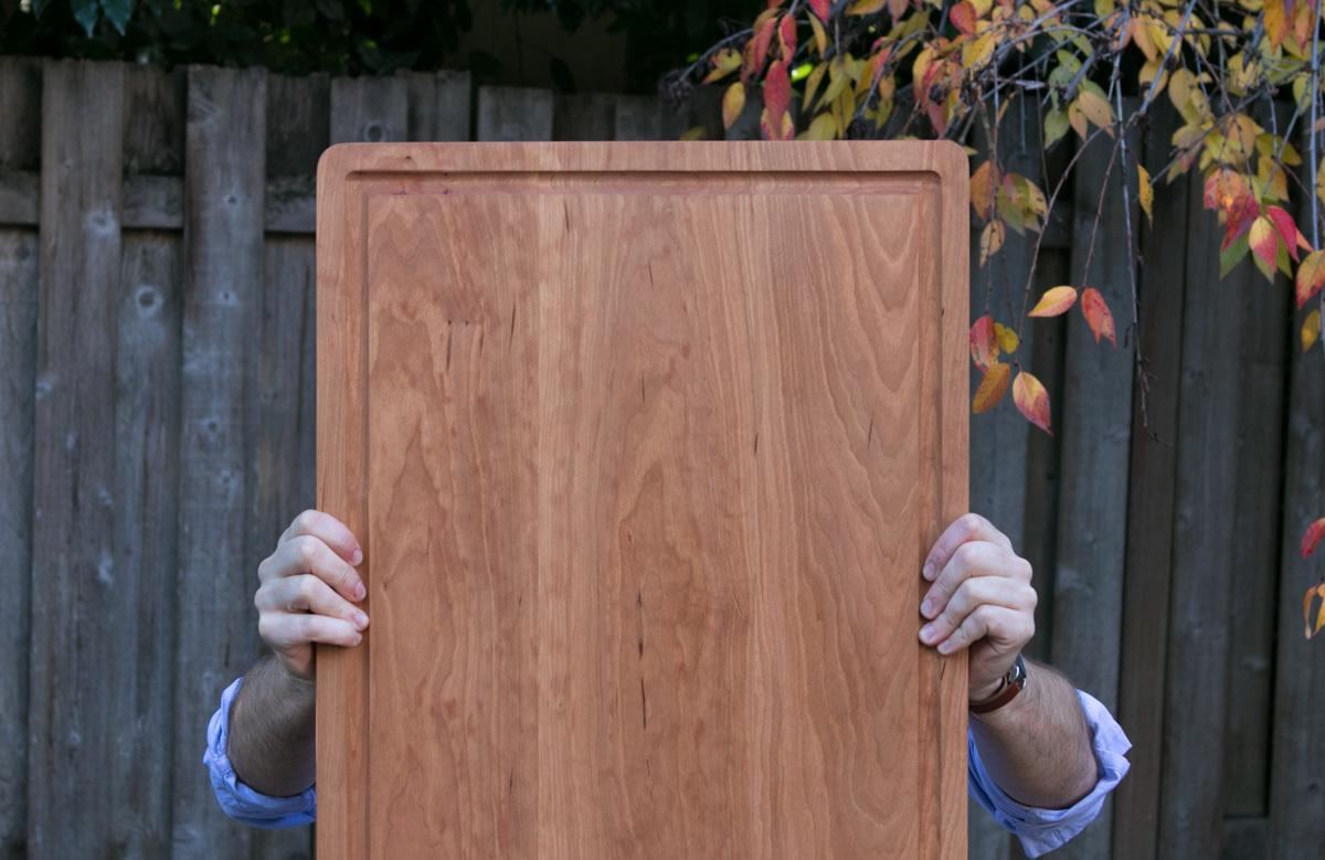 diy cutting board for carving a turkey