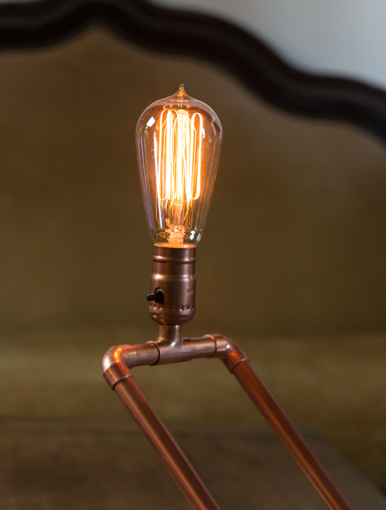 How To Make A Custom Copper Pipe Lamp Man Made Diy
