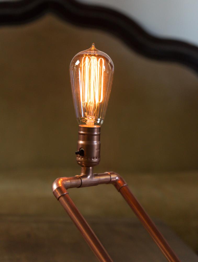 DIY copper pipe lamp