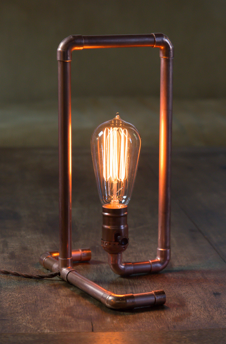 Copper pipe lamp DIY instructions